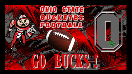 fútbol del estado de Ohio fondo de pantalla containing anime titled OHIO STATE BUCKEYES FOOTBALL, GO BUCKS!
