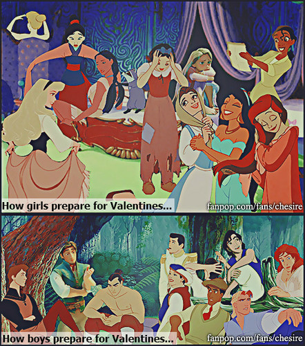 Preparations for Valentine's Day - disney-princess Photo