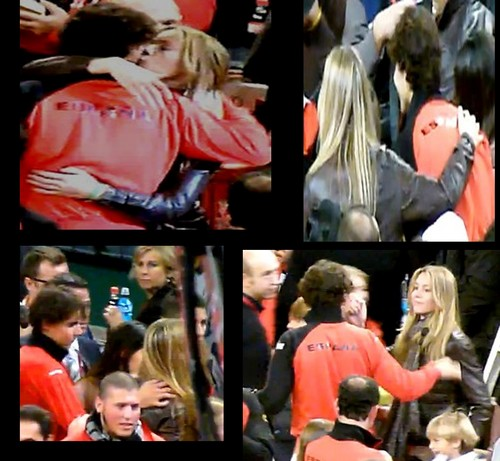 Rafa and his sister hot kiss