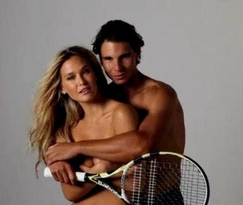 Rafael Nadal wallpaper with a tennis racket, a tennis pro, and a tennis player titled Rafa : naked Bar instead of Shakira !!!!!!