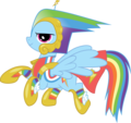 Rainbow Dash in her bad dress