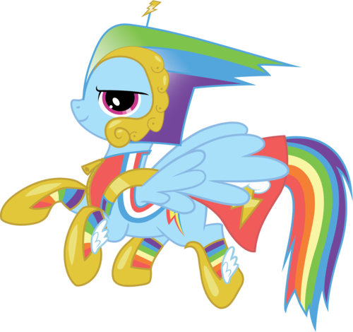 arco iris Dash in her bad dress