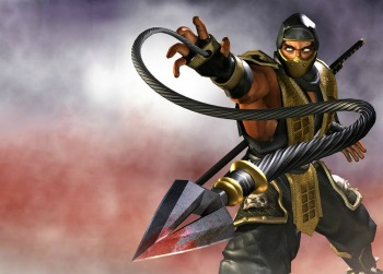 mortal kombat wallpaper possibly containing a tabard titled Scorpion!