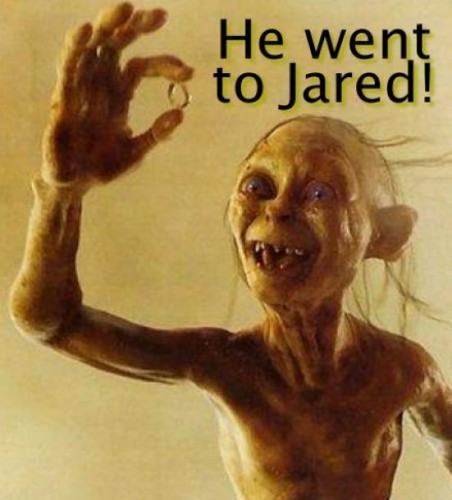 Smeagol Went to Jared!