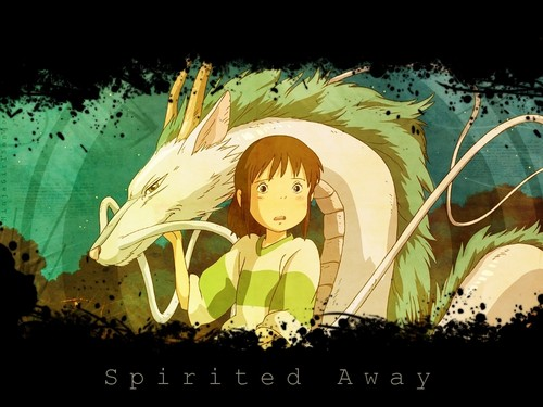 Spirited Away پیپر وال possibly with a sign called Spirited Away