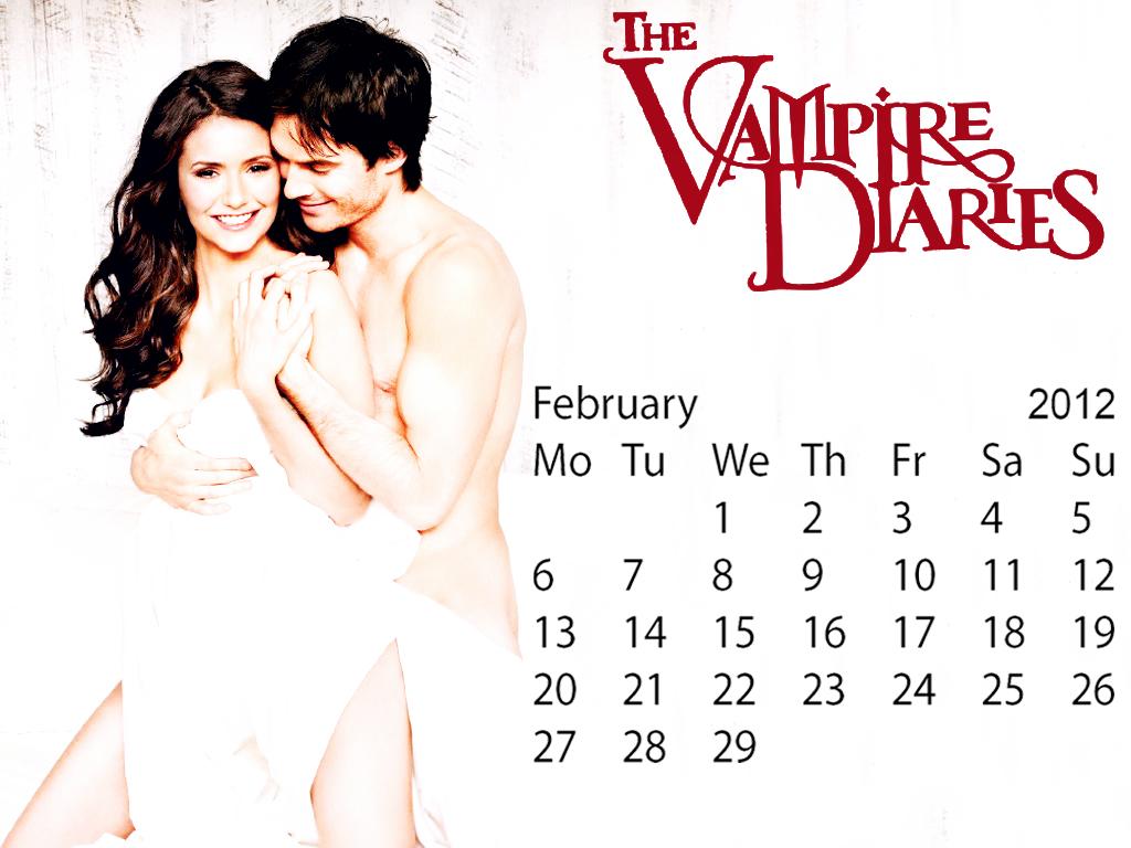 The Vampire Diaries February Calender2012 spl edition created por me!!!:)