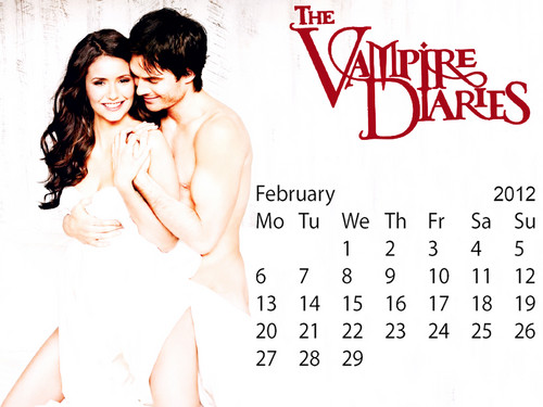 The Vampire Diaries February Calender2012 spl edition created da me!!!:)
