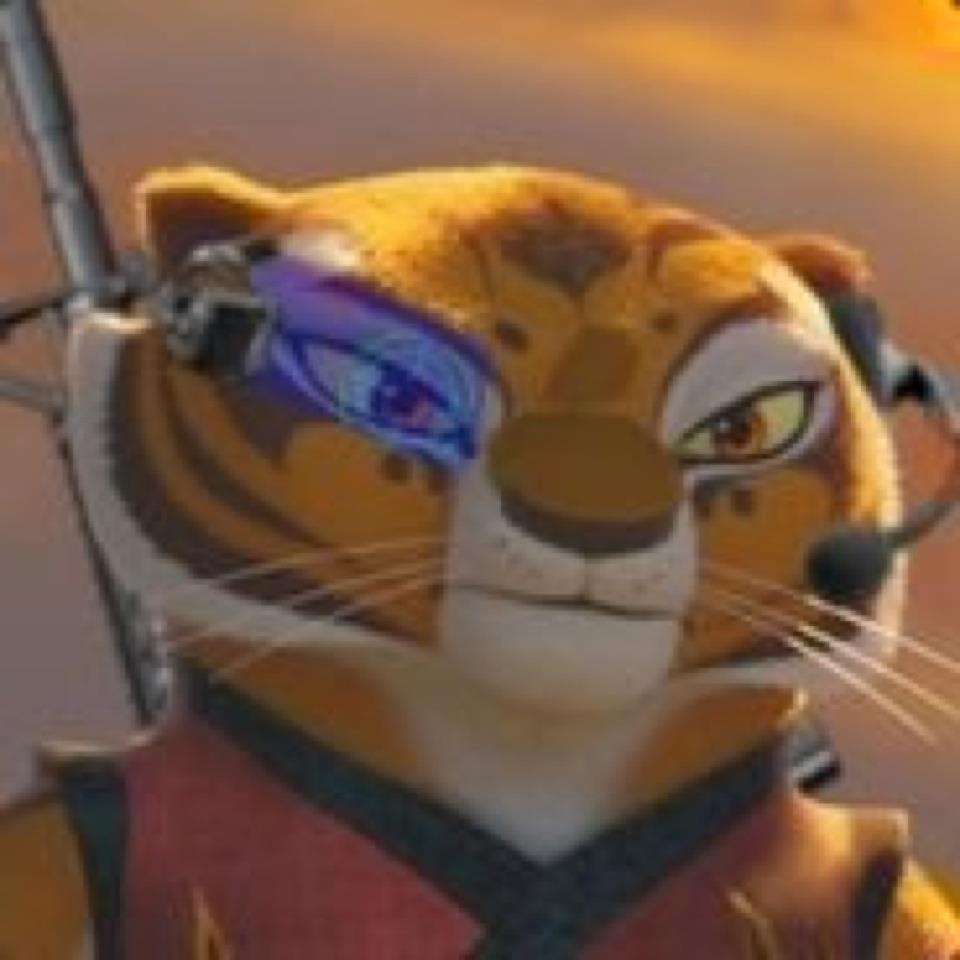 Tigress on set