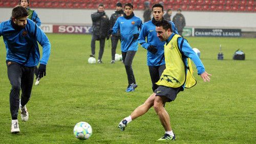 Training session at BayArena