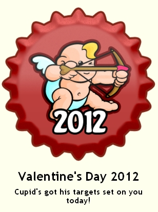 Valentine's día 2012 gorra, cap