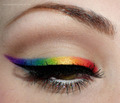Winged Rainbow Eyeliner