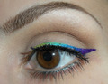 Rainbow Winged Eyeliner