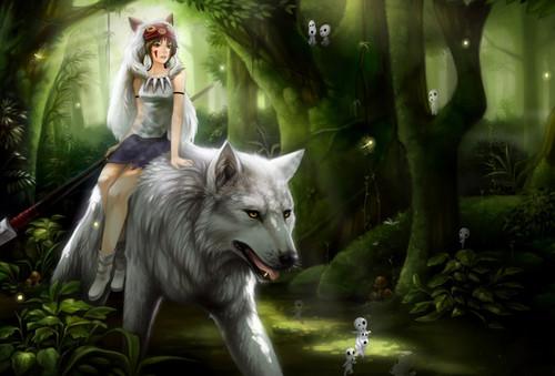 chó sói, sói anime