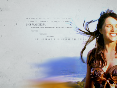 Xena: Warrior Princess wallpaper probably with a portrait called Xena-Wallpaper