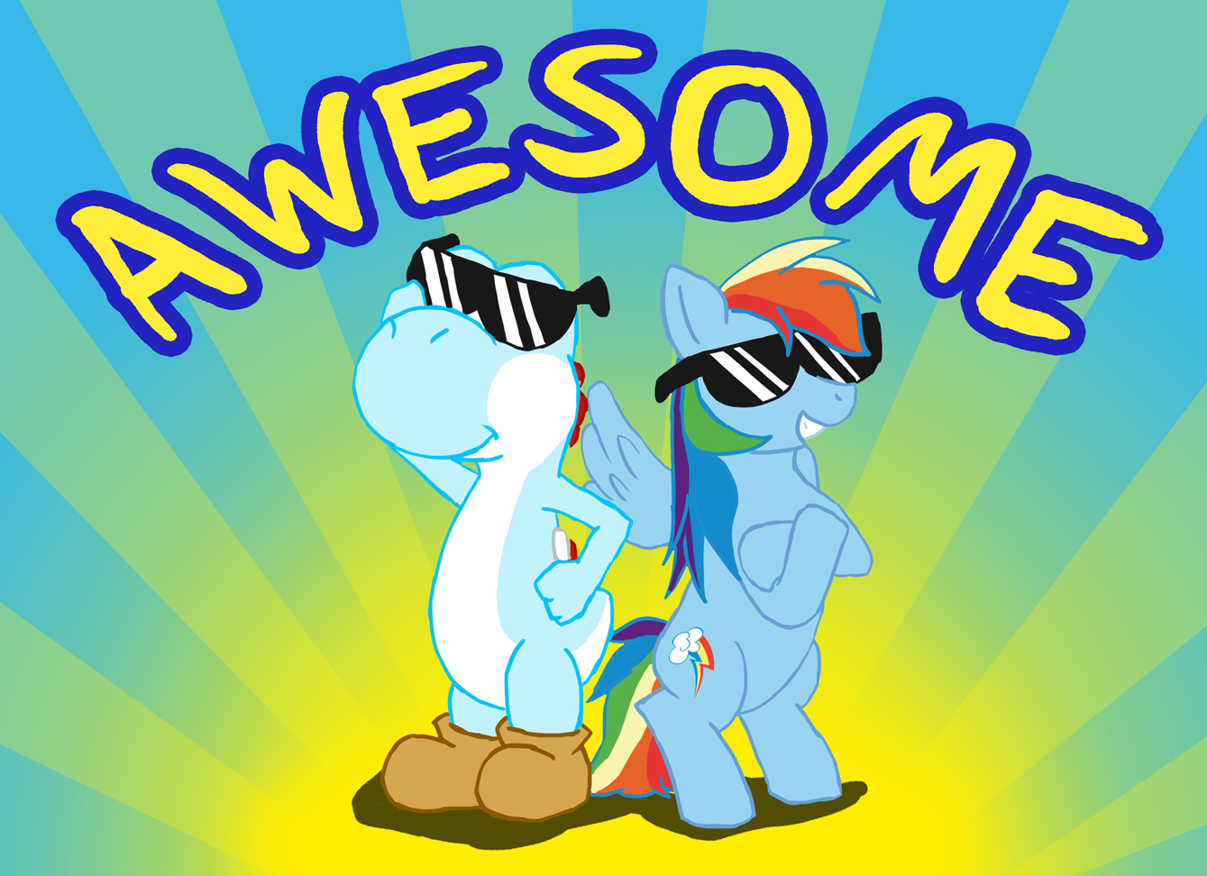 My Little Pony Friendship is Magic Yoshi and Rainbow Dash