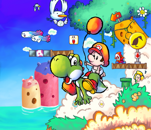 Yoshi wallpaper possibly containing anime entitled Yoshi's Island