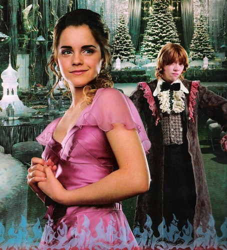 Hermione Granger wallpaper possibly with a bridesmaid and a cocktail dress titled Yule Ball