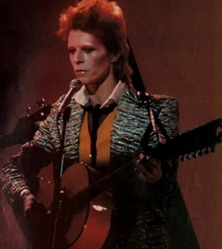 Ziggy Stardust wallpaper with a guitarist and a concert entitled Ziggy