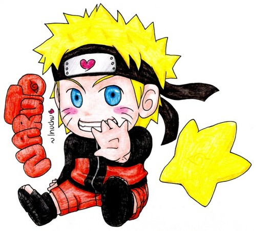 Uzumaki Naruto (Shippuuden) wallpaper with anime titled cute drawing of naruto