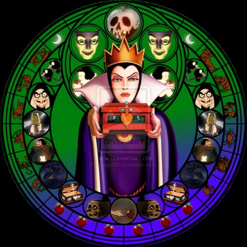 Evil Queen hình nền possibly containing a stained glass window titled evil Queen vòng tròn