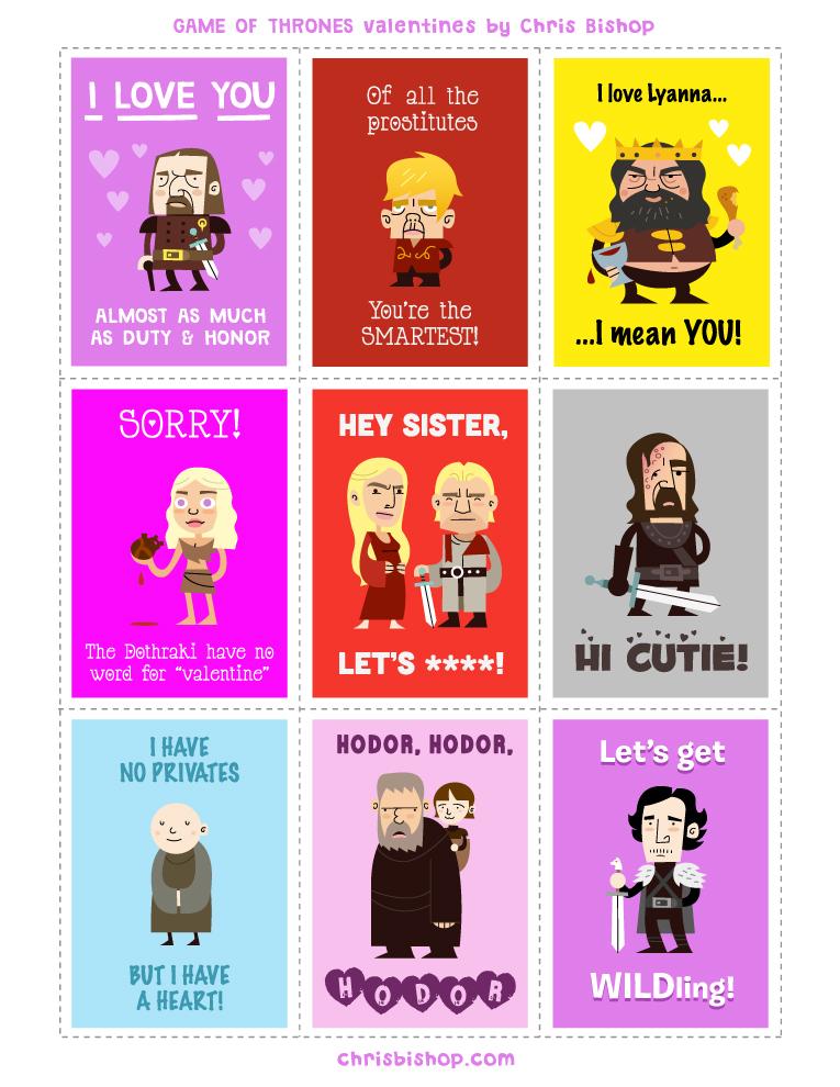 Game of Thrones Game of Thrones - Valentine