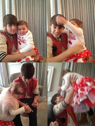 hangin out with a special little girl. #MrsBieber ♥