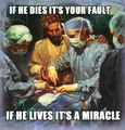 if he dies it's your fault - atheism photo