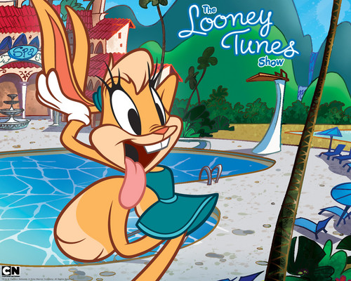 The Looney Tunes Zeigen Hintergrund probably containing Anime entitled looney tunes characters