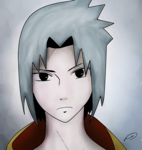 mine draw of Sasuke