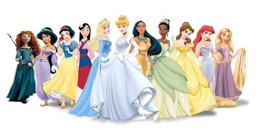new 11 disney princess with MERIDA of Valiente