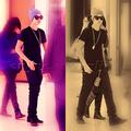 Bieber & Selena Gomez  Beverly Center - justin-bieber photo