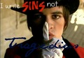&quot;I write sins not tradegies&quot;  - brendon-urie fan art