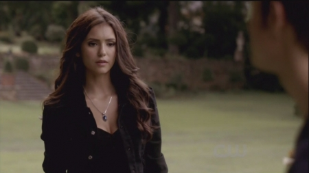 Katherine Pierce Hintergrund possibly containing a well dressed person and a portrait called 2x01 // The Return