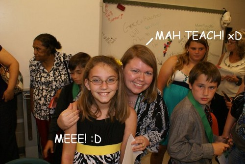 5th grade grad. WITH MAH TEACHER! :D