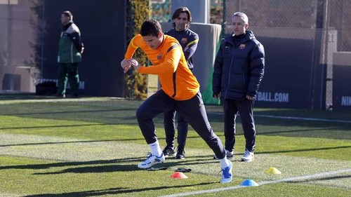 Afellay returns to light training