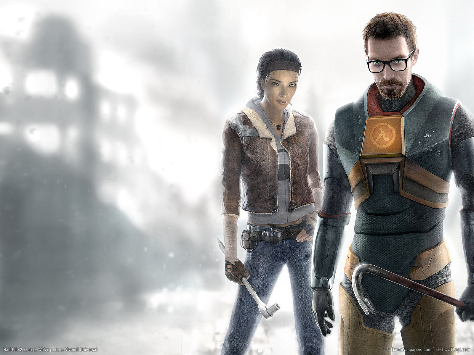 half life 2 images alyx and gordan hd wallpaper and background