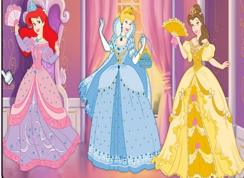 Ariel,Cinderella,Belle pretty