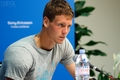 Berdych blonde eyebrows..