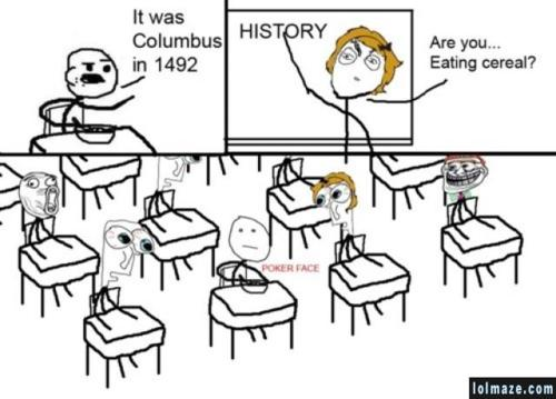 Cereal Guy in History Class