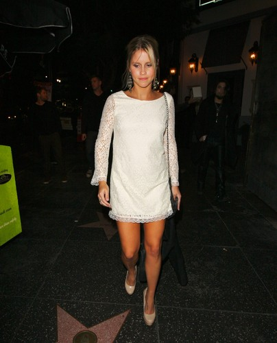 Claire Holt leaving the Lexington Social House in Hollywood, California - February 11, 2012.