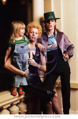 David, Angie and son Zowie