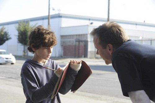 David Mazouz and Kiefer Sutherland