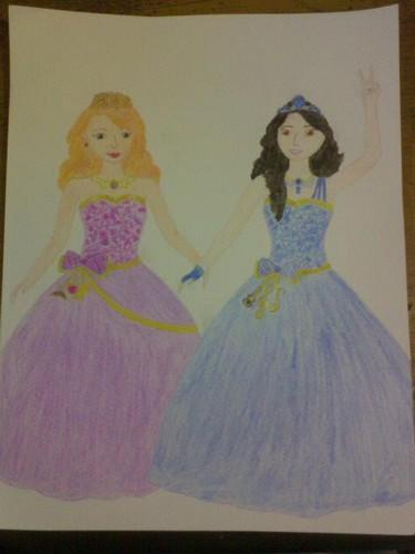 Filem Barbie kertas dinding called Delancy and Isla