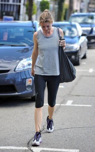 Ellen doing her fitness