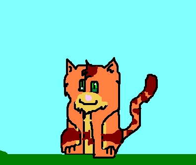 Make Your Own Warrior Cat! kertas dinding entitled Flamefur