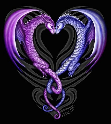 Heart Dragons - fantasy Photo