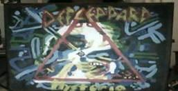 Hysteria album cover painting