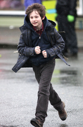 Jared Gilmore On The Set Of Once Upon A Time