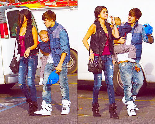 Jelena and family lunch at Japanese restaurant Benihana - justin-bieber-and-selena-gomez Fan Art