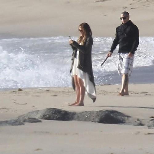 Jennifer & Casper on Valentines Day, Malibu Beach 14/02/12